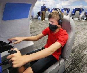 Flight simulator at Lone Star Flight Museum