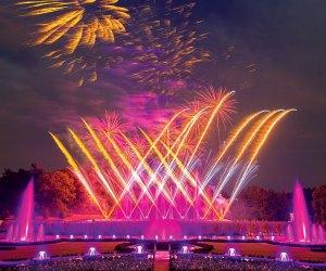 Fireworks light up Longwood Gardens. Photo courtesy of Longwood Gardens
