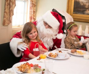 Breakfast with Santa, before he gets too busy! Photo courtesy of Lyman Orchards