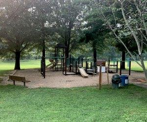 Playgrounds with shade at V.E. Macy Park