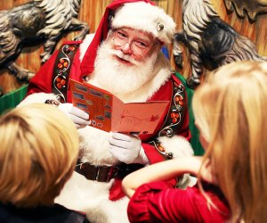Santa is taking gift requests in person this holiday season at Macy's Santaland. Photo courtesy of Macy's