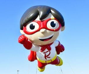 Be sure to tune in to see Red Titan from Ryan's World and many  other giant balloons at the  94th Annual Macy's Thanksgiving Day Parade. Photo by Eugene Gologursky/Getty Images for Macy's