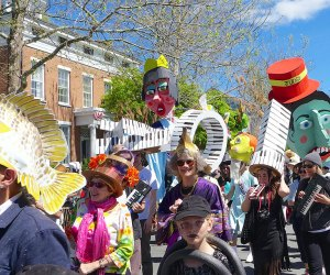 Prepare for the whimsical, the wacky, and the wow-worthy at the Mad Hatters' Parade. Photo courtesy of Processional Arts