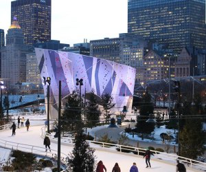 In the heart of downtown Chicago a ribbon of ice at Maggie Daley Park winds through a rolling landscape providing an ice skating experience unlike any other.Photo courtesy of the park