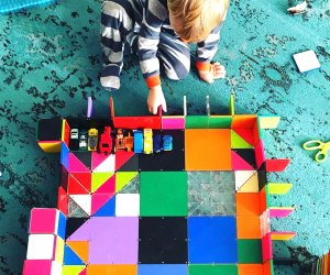 Geometric Magna-Tiles offer hours of building fun. Photo courtesy of the company