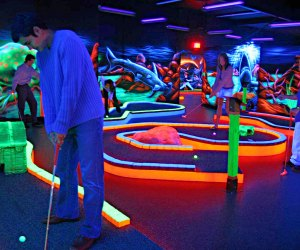 Play mini golf by black light! Photo courtesy of Main Event