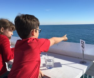 Look for whales and dolphins right from your table at Malibu Farm. Photo by Meghan Rose