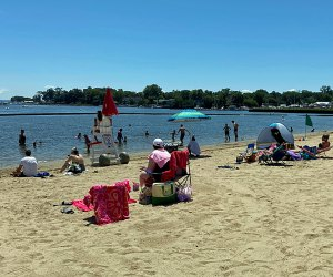 Hit the beach at Harbor Island Park, which is an action-packed Mamaroneck destination in any season. Photo by author