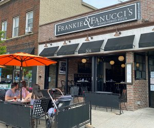 Exterior view of Frankie and Fanucci's in Mamaroneck