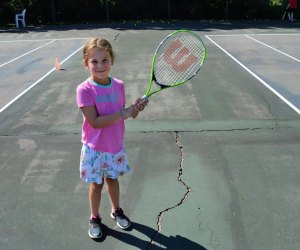 Try out tennis and more sports at Mandell JCC's summer camp. Photo courtesy the camp
