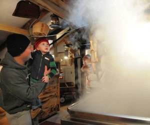 Smell and see how maple syrup is made. Photo courtesy of Visit CT