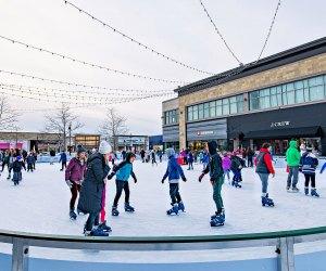 Take advantage of a sunny day with outdoor ice skating at MarketStreet Lynnfield. Photo by Benjamin Esakof/Halo Creative Group