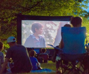 Mayor Walsh's Summer Movie Nights series—free screenings of family-friendly movies—in the month of August. Photo courtesy of Boston Parks and Recreation Department
