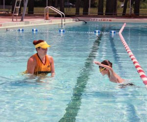 Swim lessons are on pause but kids can still enjoy a dip at the Memorial Park Pool. Photo courtesy of Houston Parks & Rec