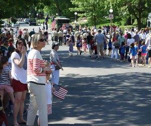 Bronxville's Memorial Day Parade steps off at Leonard Morange Square. Photo by Susan Miele