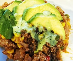 Mexican Instant Pot Quinoa warms on a chilly night.