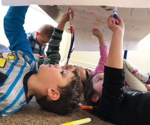 See art from a different perspective at Miss Midgie's Preschool.
