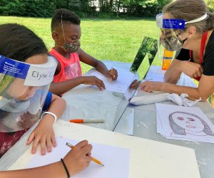 Kids receive safe, personal art instruction in Milton. Photo courtesy of Milton Art Center
