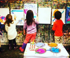 Kids as young as 3 can explore explore painting. Photo courtesy Beehive Art Studio