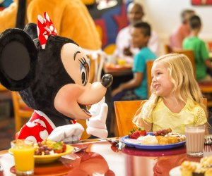 Minnie makes a regular appearance at Chef Mickey's. Photo courtesy of Walt Disney World