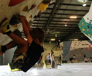 Kids can climb at Momentum Indoor Climbing