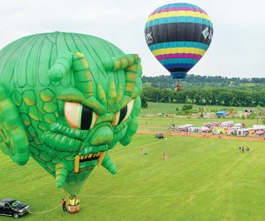 See amazing hot air balloons at the annual Warren County Farmers' Fair and Hot Air Balloon Festival. Photo courtesy of the festival
