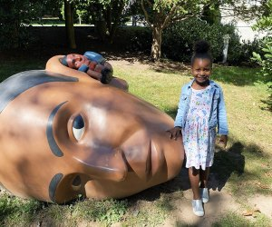 The outdoor art at the Montclair Art Museum makes for an awesome photo op.