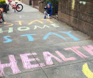 Kids in Brooklyn leave helpful reminders for neighbors. Photo courtesy of Julia Morrill