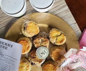Mulberry House will delivers!  Mom might just love a tea and scone delivery.
