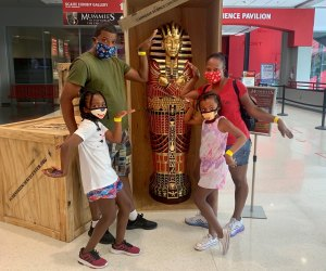 Walk like an Egyptian at the Carnegie Science Center in Pittsburgh. Photo courtesy of the center