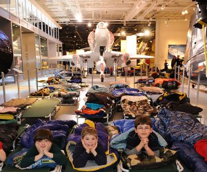 Sleep among the aircraft! Photo courtesy of the Intrepid Museum