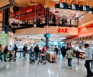 Is Wegmans a grocery store, a food hall, or a restaurant? The answer is, all of the above.