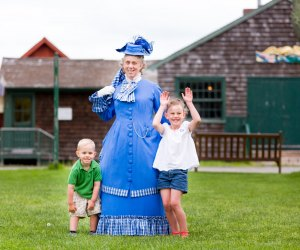 Costumed interpreters share stories of colonial life along the historic Mystic seaport. Photo courtesy of the Mystic Seaport Museum