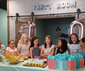 Host a birthday party at Nailed It, where guests can make their own creations to take home.
