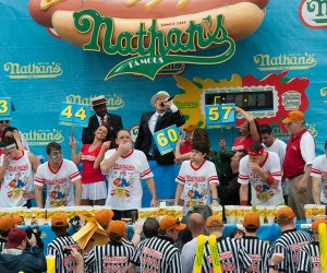 The Nathan's Hot Dog Eating Contest on Coney Island