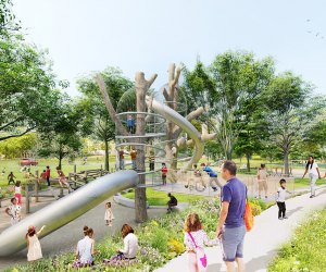 """The Pattison playground area at FDR Park is designed to encourage """"nature play for all ages and abilities"""""""