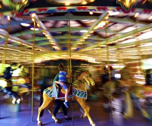 The Prospect Park Carousel is spinning again to the delight of young fans. Photo courtesy of Prospect Park
