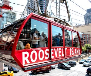 See the skyline from a whole new vantage point on the Roosevelt Island Tram. Photo courtesy of NYCGo