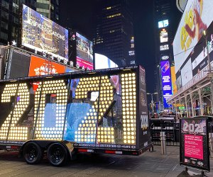 It's out with the old and in with the new as Time Square celebrates New Year's Eve virtually this week. Photo by Jody Mercier