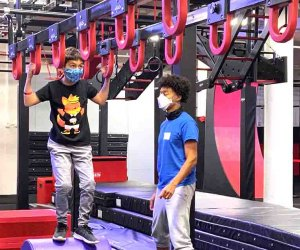 New York Ninja Academy challenges kids with Ninja Warrior-style obstacles.