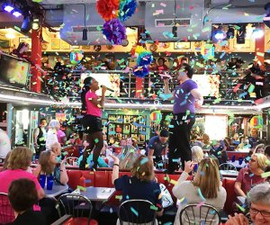 You can't beat watching the amazing waitstaff at Ellen's Stardust Diner.