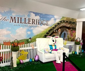The Easter Bunny is the man of the hour at the MIlleridge Inn. Photo courtesy of the restaurant