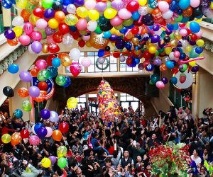 Ring in the New Year at noon at the New Rochelle atrium. Photo courtesy of the event