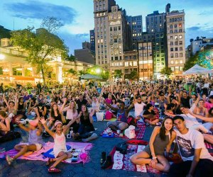 Pack a blanket for Summer in the Square movie nights. Photo by Liz Ligon