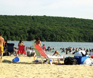 Lake Welch is the larger of the two public beaches in Harriman State Park.