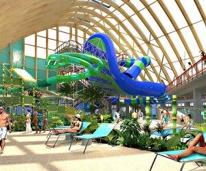 Kids will go wild for the huge new indoor water park.