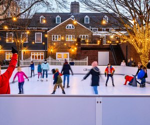Palmer Square's picturesque ice skating rink is made of synthetic Glice.