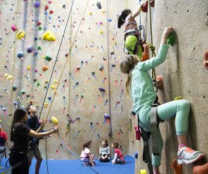 Kids can test their climbing skills at Gravity Vault in Middletown.