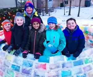 This epic igloo will entertain the whole block (photo taken pre-pandemic).