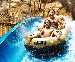 Families can hit the rides together at Great Wolf Lodge's indoor water park.